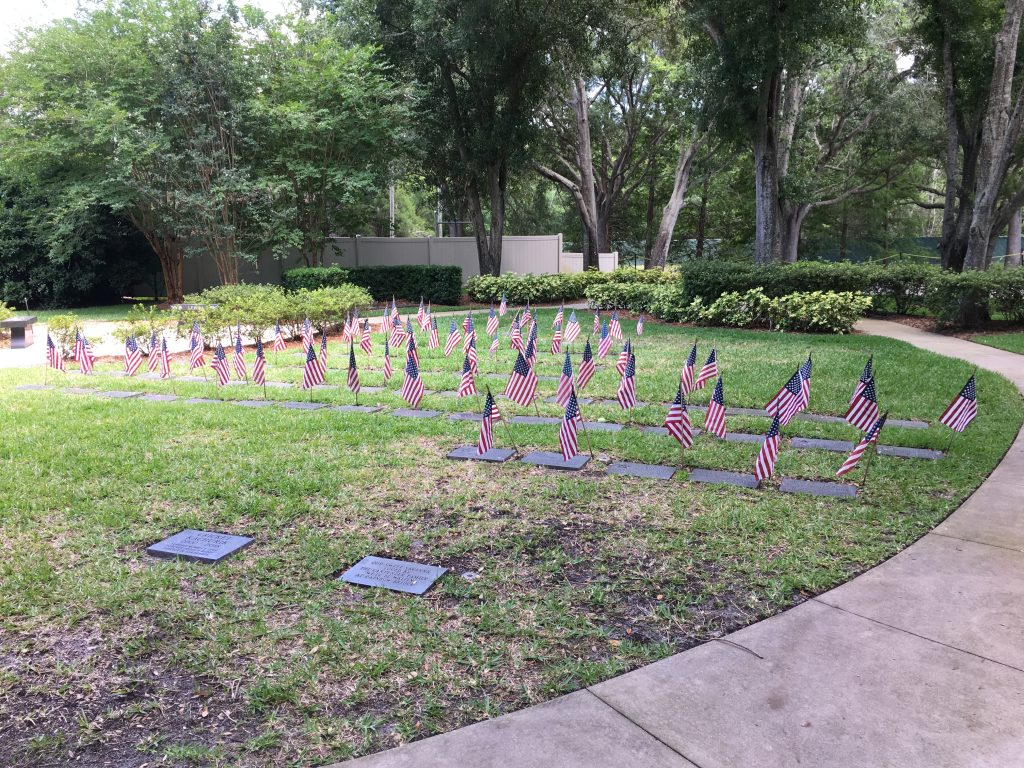 At Curlew Hills Memory Garden's pet cemetery for K-9 heroes, 73 flags fly in preparation for Memorial Day 2019