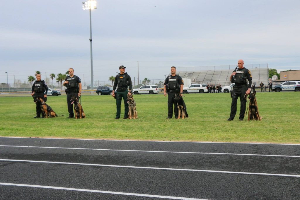 Together with their handlers, these fab five K-9s are now officially certified, ready to uphold the law and keep our communities safe